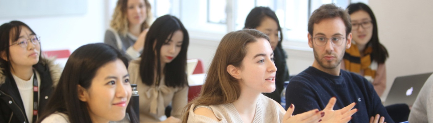 students in a classroom at LSE