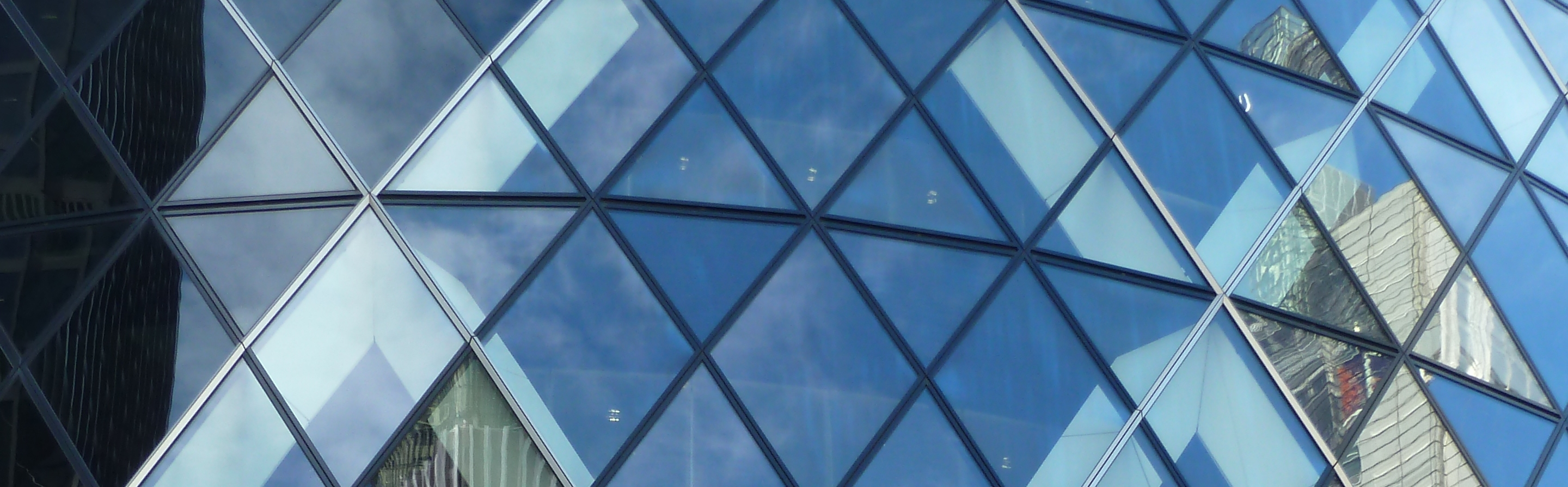 Gherkin glass reflections