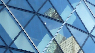 Gherkin glass reflection