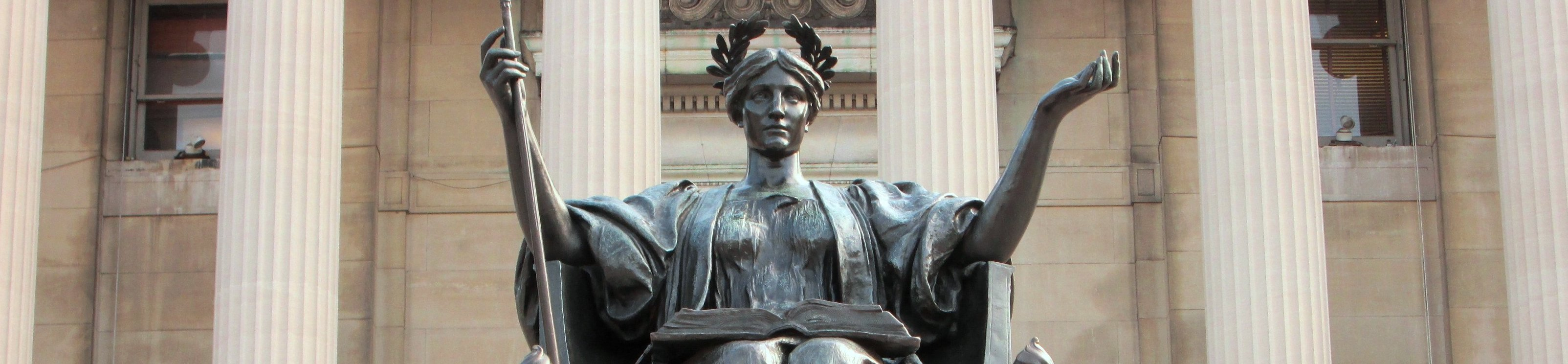 Statue outside Columbia University