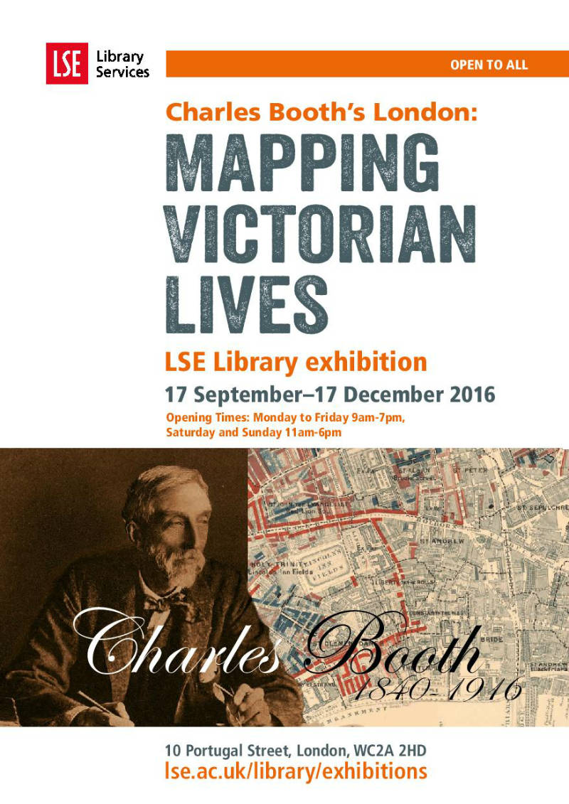 Charles Booth exhibition poster