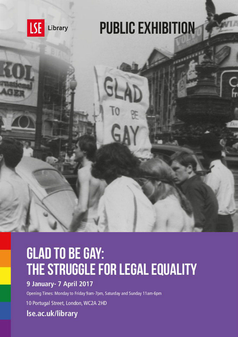 Glad to be Gay exhibition poster