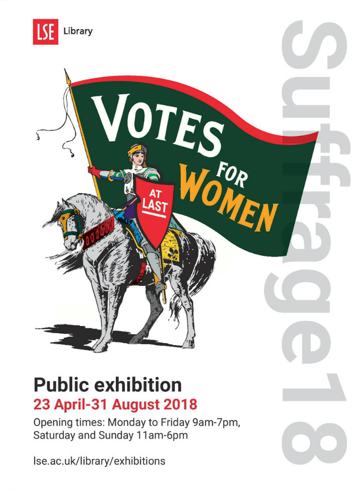 Votes for women exhibition poster