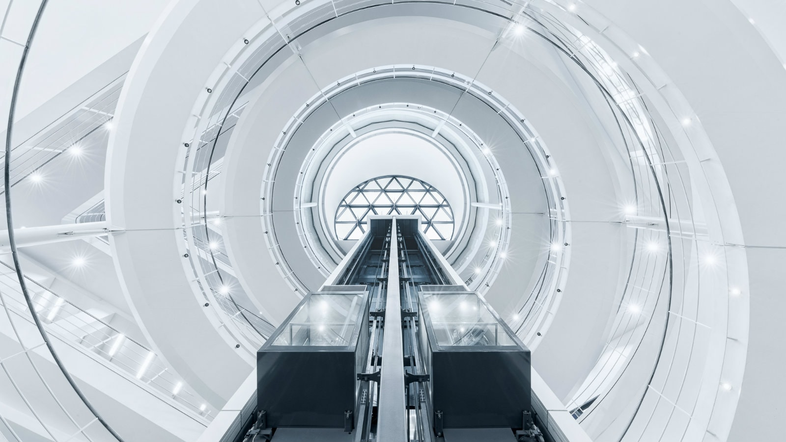 LSE Library lift and dome photo
