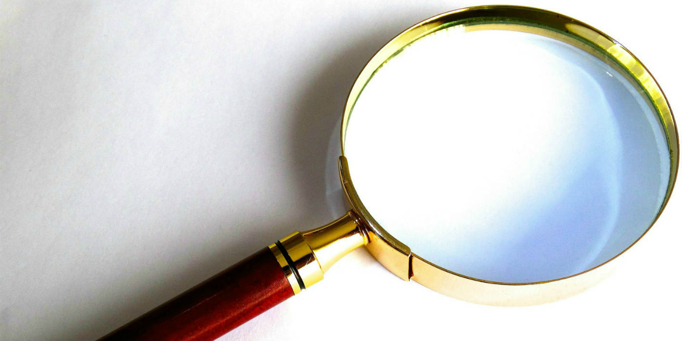 Magnifying glass search image