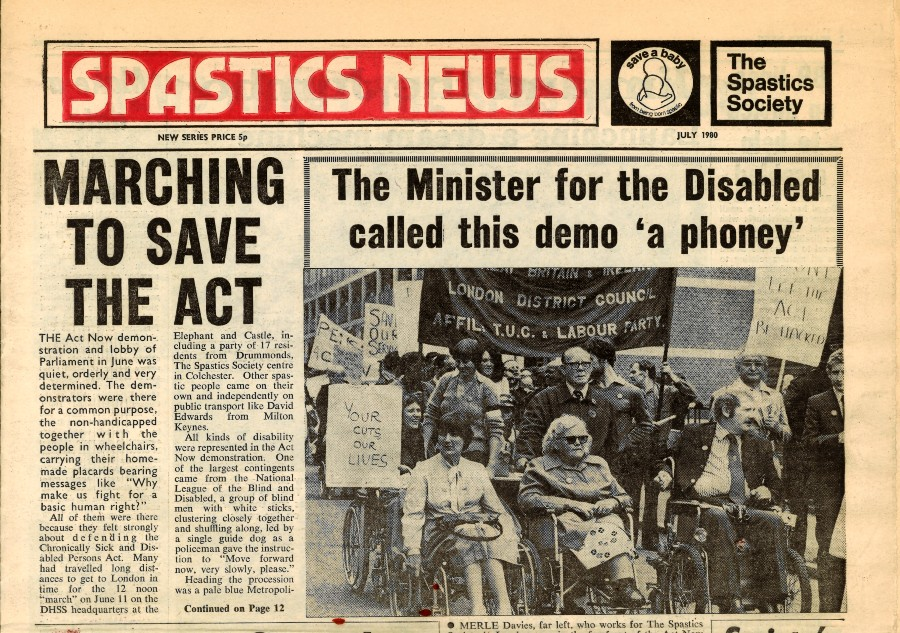 An extract from Spastics News, July 1980