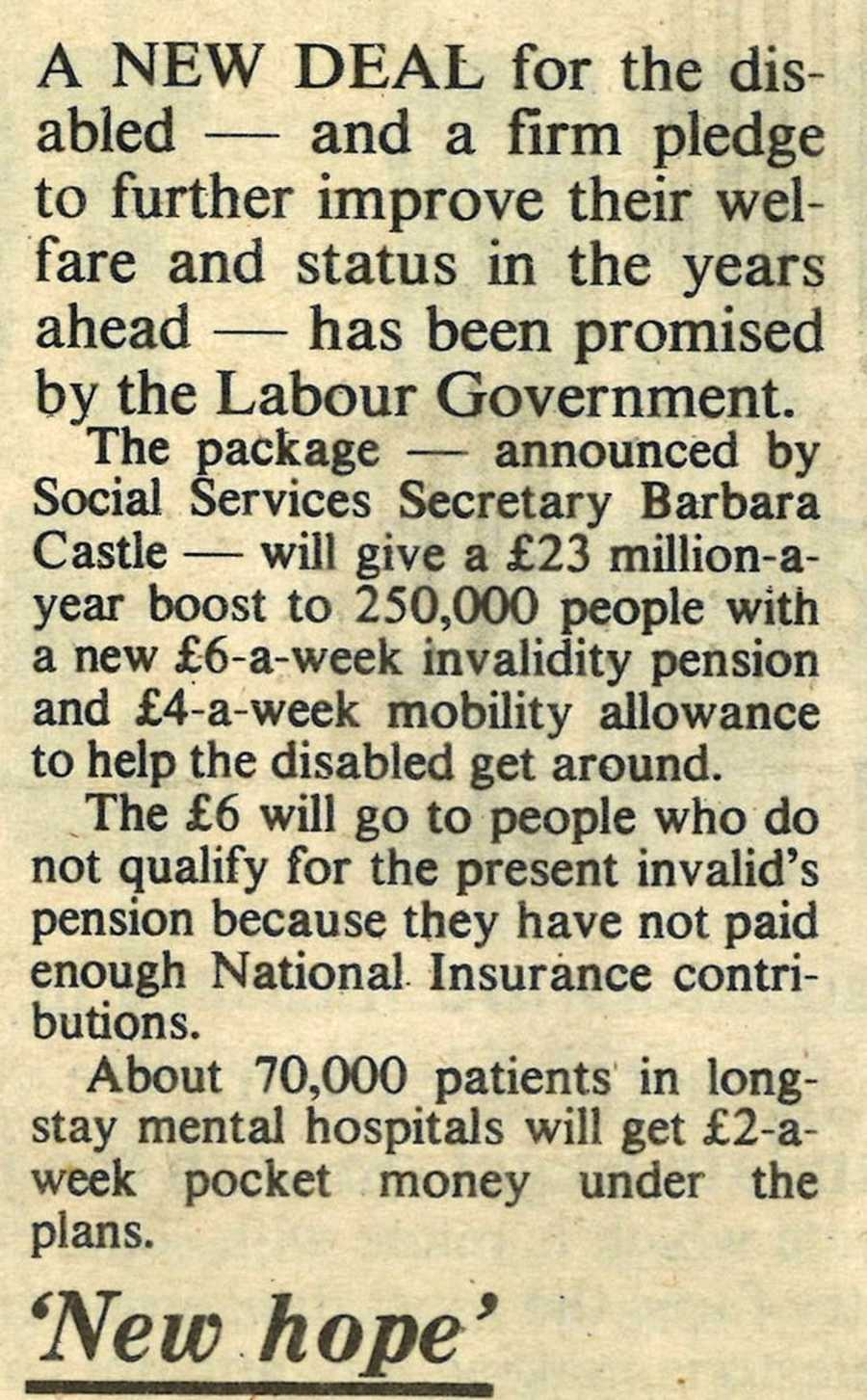 An extract from Labour Weekly, 20 September 1974