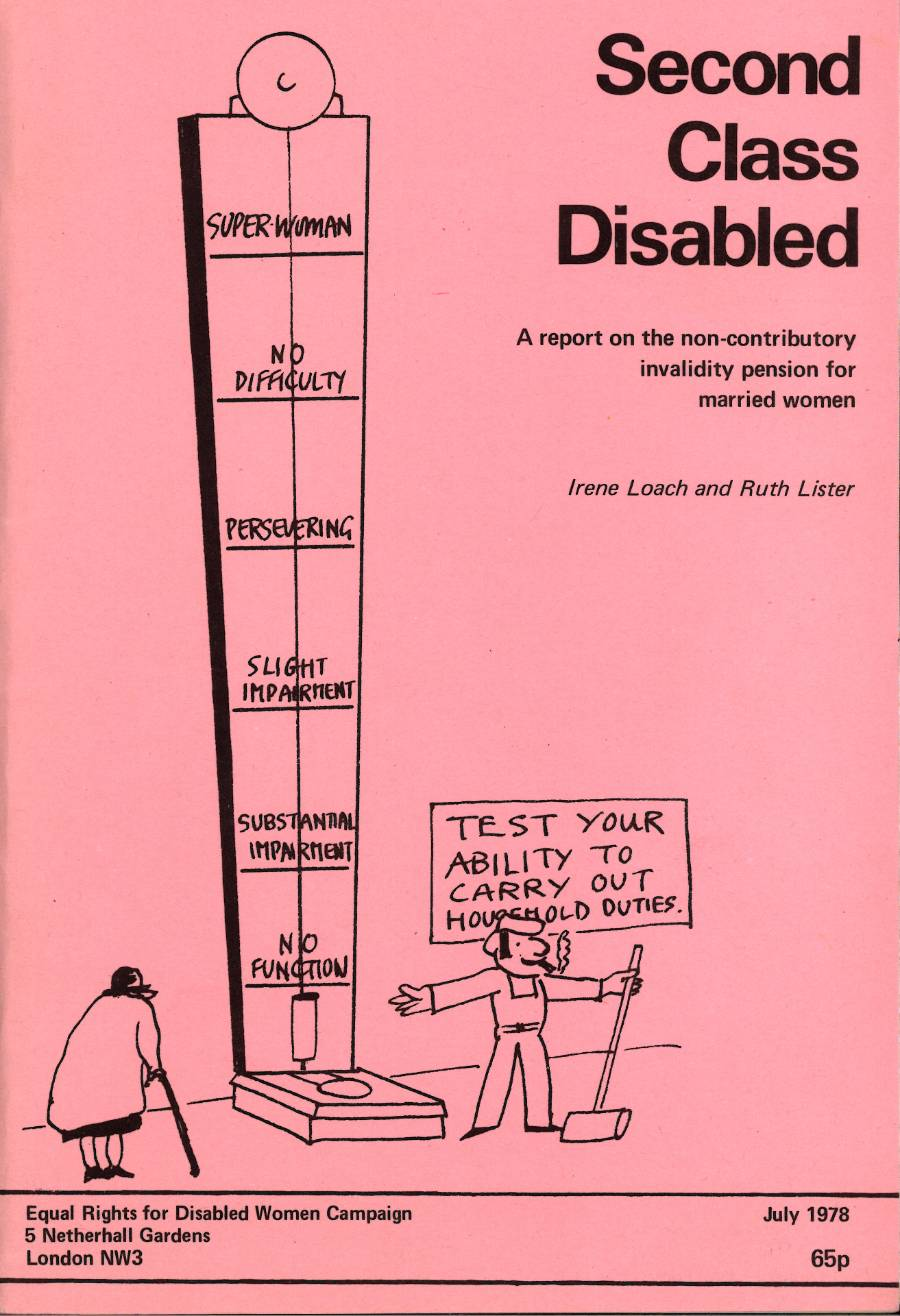 A piece of protest literature entitled 'Second Class Disabled', 1978