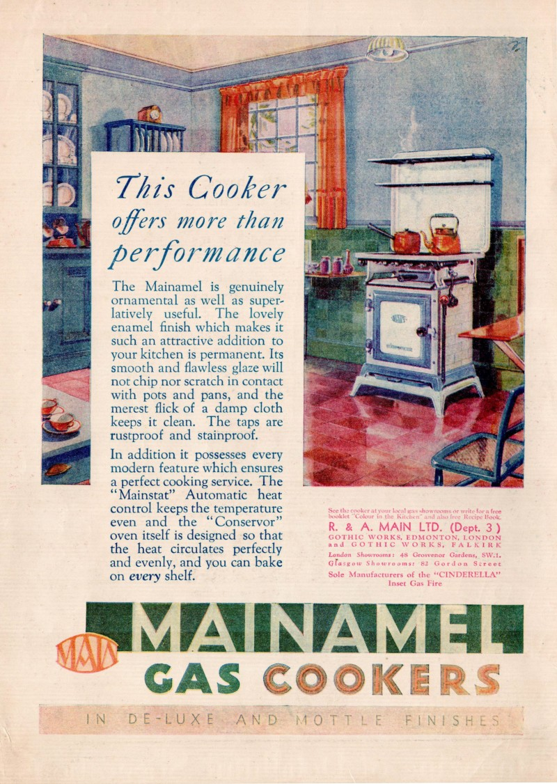 An extract including an advert for a gas cooker