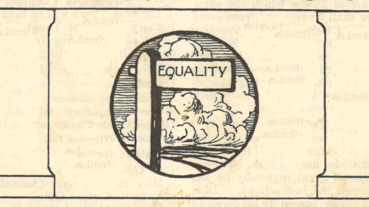 An extract of Opportunity magazine including a signpost labelled 'Equality'