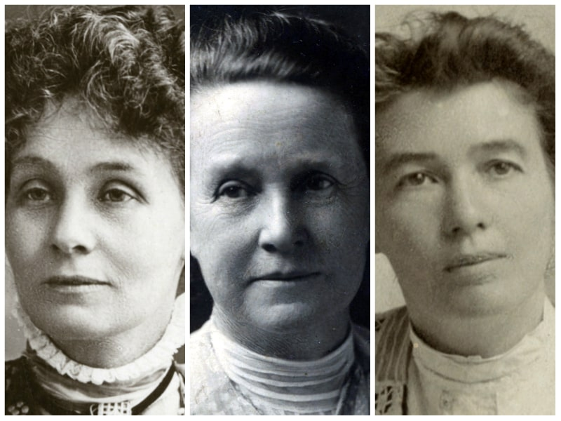 Pankhurst Fawcett and Pethick Lawrence collage image