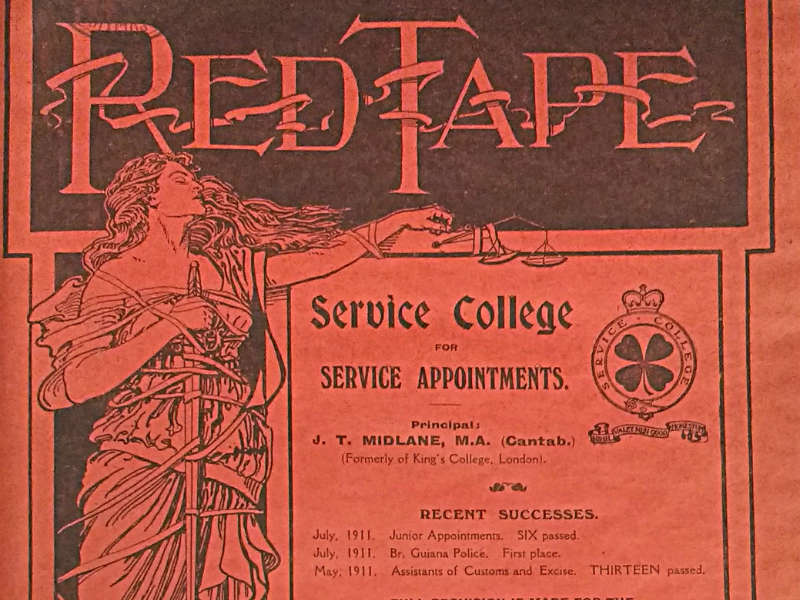 Red Tape, The Civil Service Magazine, 1911 800x600