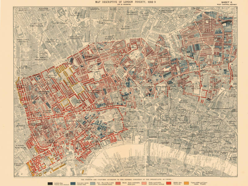 One of the Booth study poverty maps of London