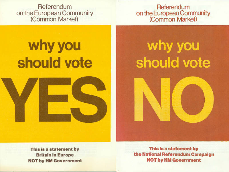 Referendum posters from 1975