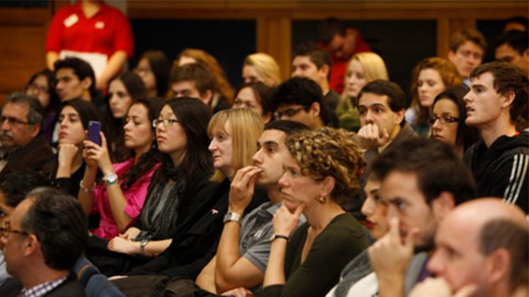 Image of an LSE public lecture audience