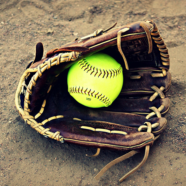 Image of a baseball glove and ball