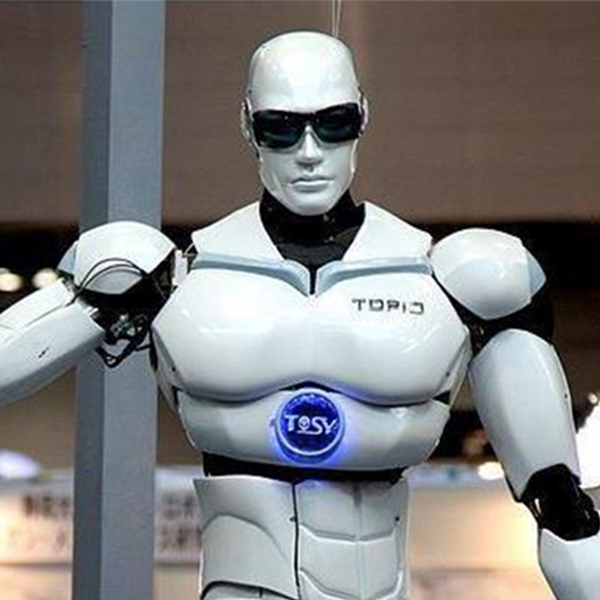 Image of a robot wearing sunglasses
