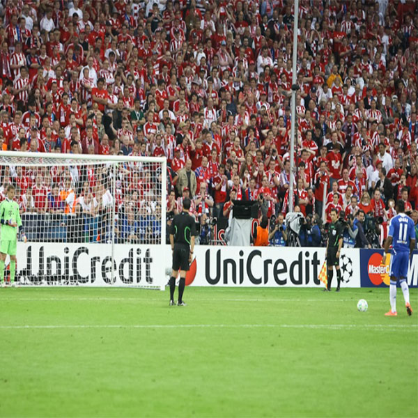 Image of a Champions League penalty shootout