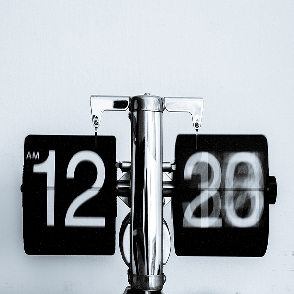 Image of time passing on a clock