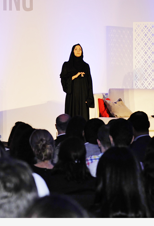 Elham Al Qasimi Giving a TEDxWWF Talk
