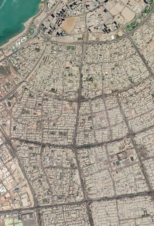 Kuwait City Google Maps view