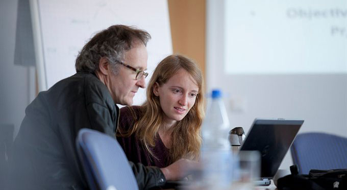 Prof. Luc Bovens with student