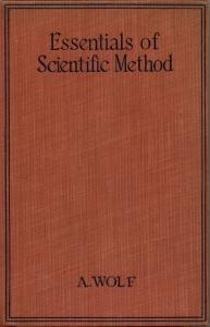 Wolf - Essentials of Scientific Method