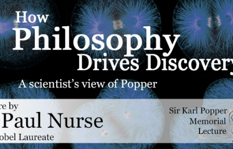 28 September: Sir Karl Popper Memorial Lecture with Paul Nurse