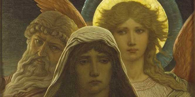 The Sorrowing Soul Between Doubt and Faith by Elihu Vedder, c. 1887.