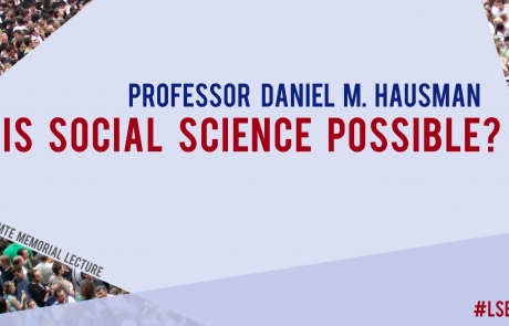 4 October: Auguste Comte Memorial Lecture with Professor Daniel M. Hausman