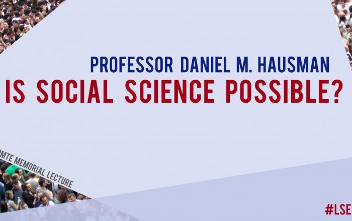 4 October: Auguste Comte Memorial Lecture with Professor Daniel M. Hausman