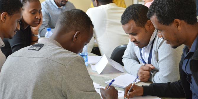 Doctors from all over Ethiopia participate in health priorities- and medical ethics-training in Addis Ababa, under the auspices of Global Health Priorities, UiB.Photo:  Linn Jeanette Rundhovde Knudsen