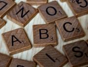 Scrabble letters reading ABC