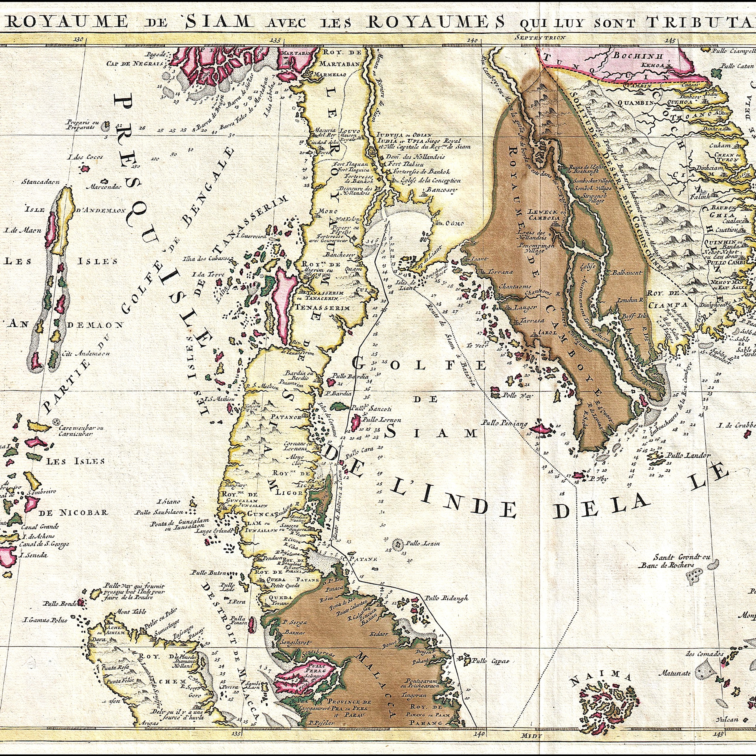 a small map of Southeast Asia from 1710