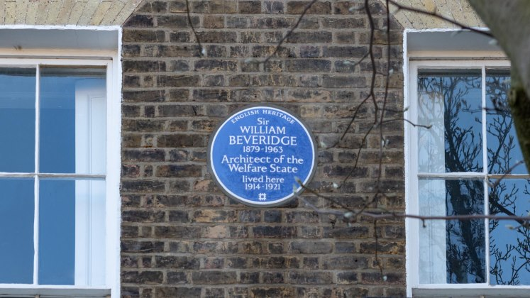 English Heritage Blue Plaque Beveridge