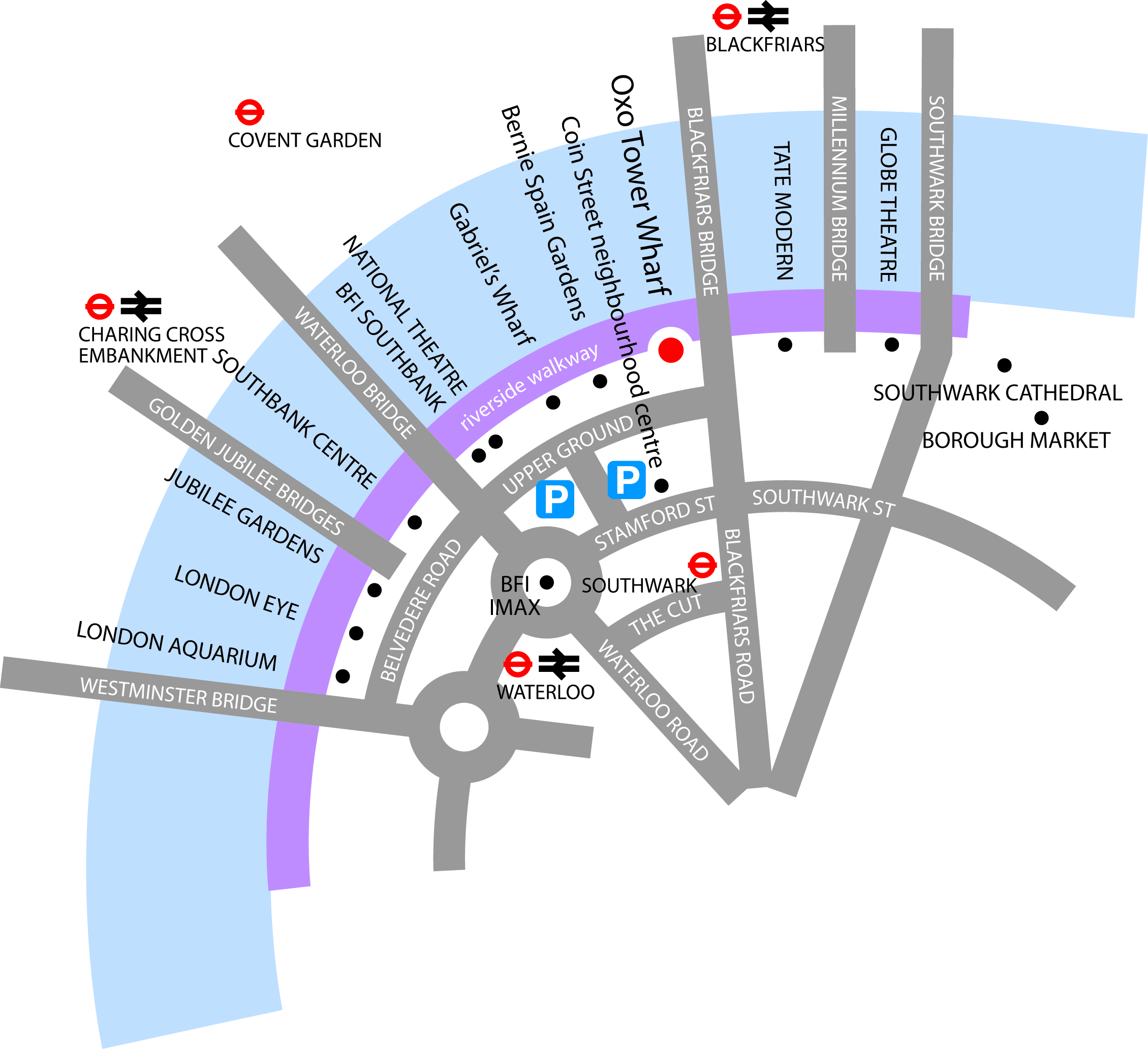 Oxo Tower Wharf map