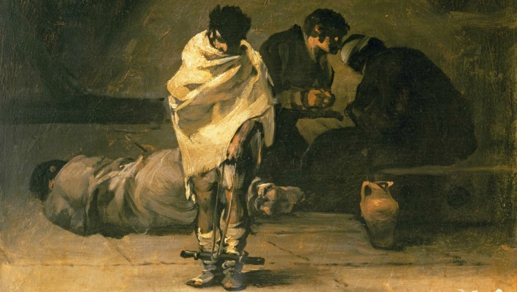 Painting of suffering