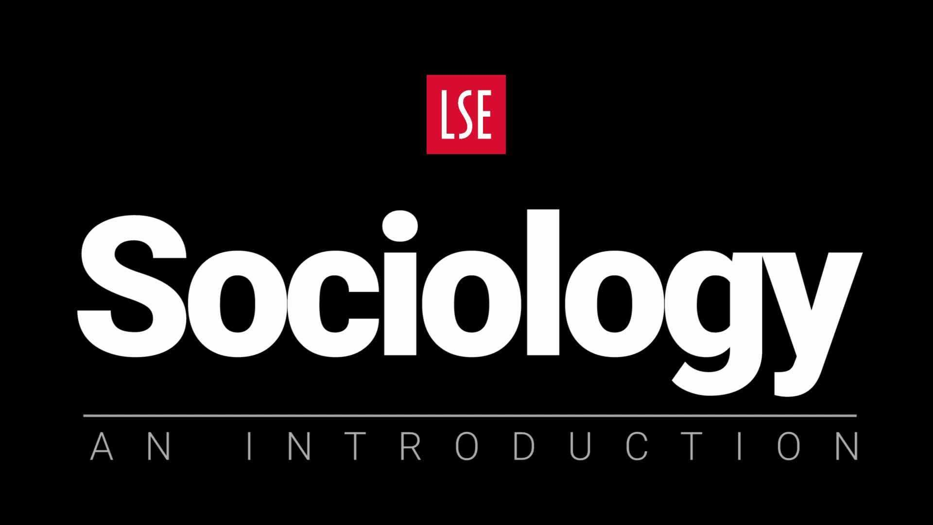 Sociology - an introduction