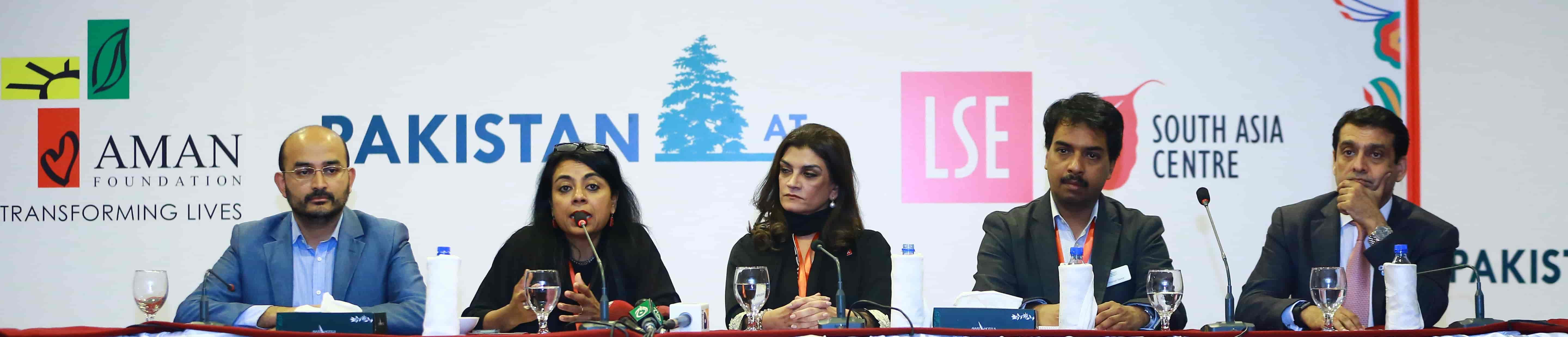 press conference at LSE Pakistan Summit