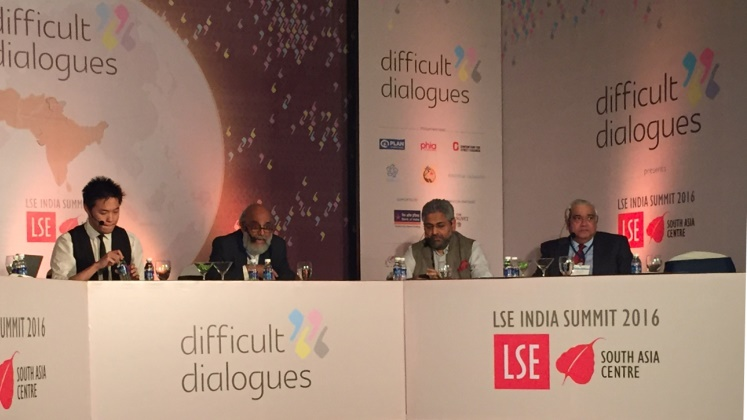 Panel at LSE India summit 2015