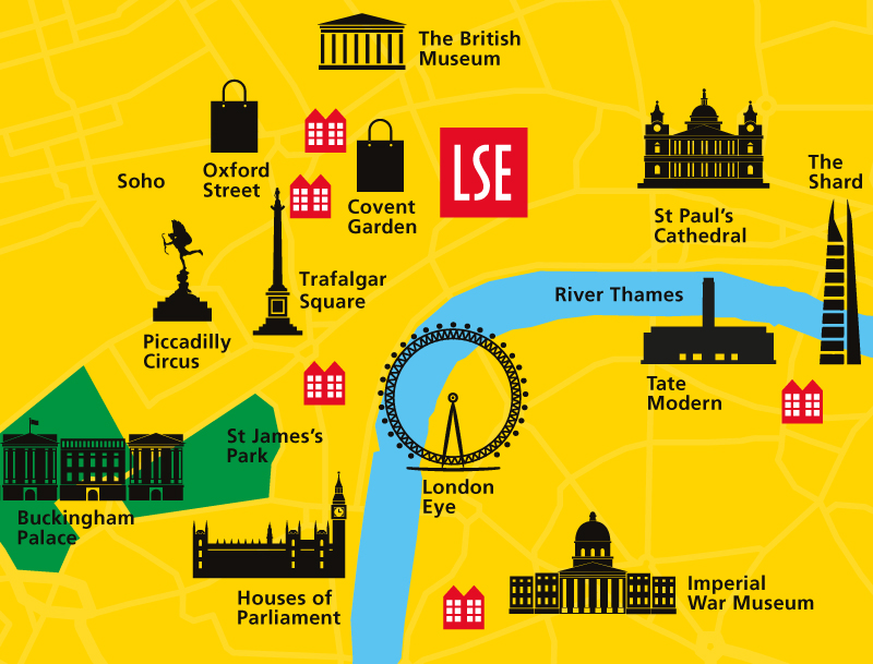 Map of LSE accommodation in London