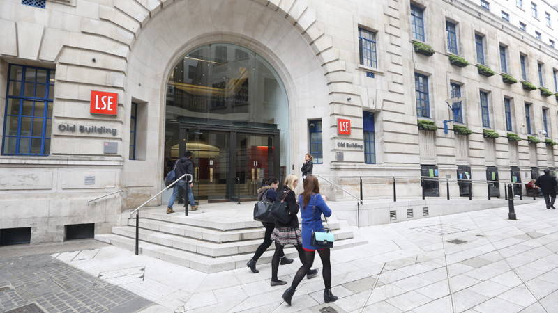 Entrance to LSE's Old Building