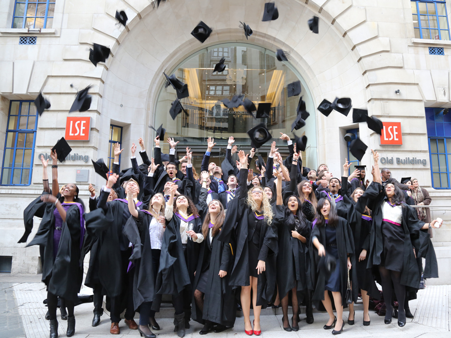 LSE graduates throw their hats in the air