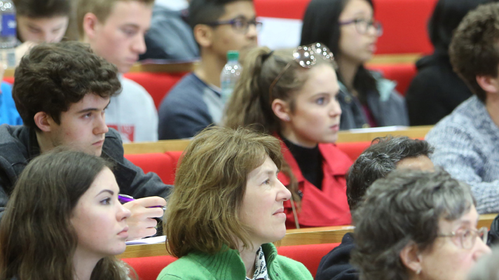 Audience in lecture theatre, LSE