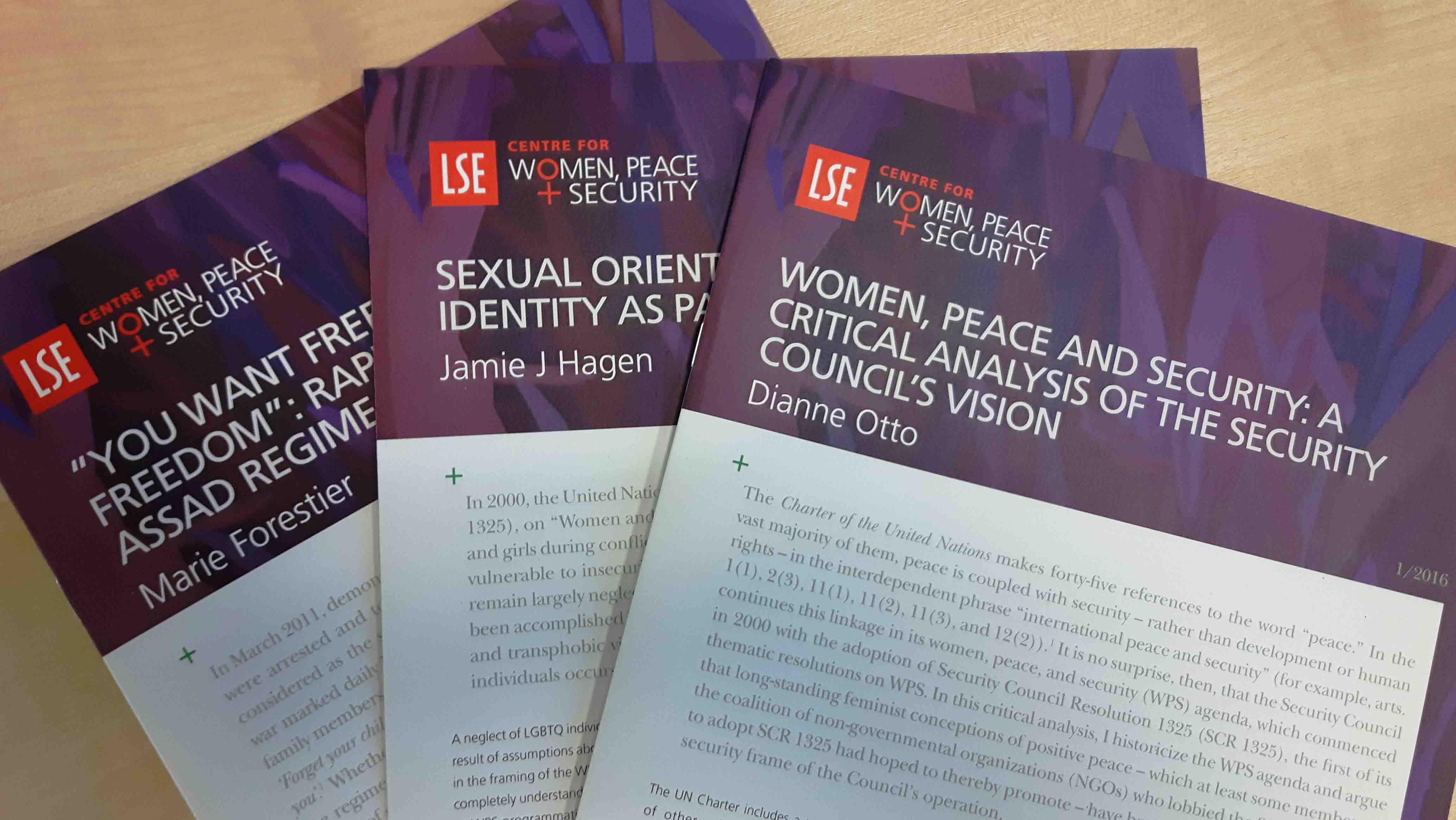 Women, peace and security working papers